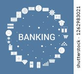 banking icon set. infographic... | Shutterstock .eps vector #1262983021