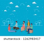 social community using... | Shutterstock .eps vector #1262983417
