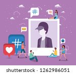 social community with man...   Shutterstock .eps vector #1262986051