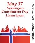 norwegian constitution day is...   Shutterstock .eps vector #1262990047
