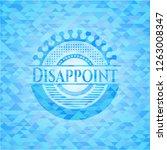 disappoint light blue emblem... | Shutterstock .eps vector #1263008347