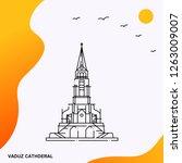 travel vaduz cathderal poster...   Shutterstock .eps vector #1263009007