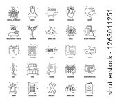 25 business concept mix line... | Shutterstock .eps vector #1263011251