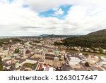 salzburg city panorama with old ... | Shutterstock . vector #1263017647