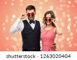 valentines day  love and people ...   Shutterstock . vector #1263020404