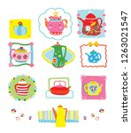 a whimsical collection of fun... | Shutterstock .eps vector #1263021547