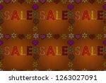 seamless pattern. raster... | Shutterstock . vector #1263027091