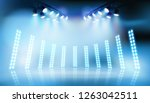 light show on the stage. vector ... | Shutterstock .eps vector #1263042511