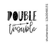 double trouble   vector... | Shutterstock .eps vector #1263048151