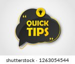 quick tips  helpful tricks ... | Shutterstock .eps vector #1263054544