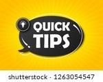quick tips  hint  helpful... | Shutterstock .eps vector #1263054547