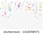 many falling colorful tiny... | Shutterstock .eps vector #1263058471
