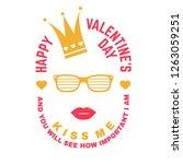 happy valentines day. stamp ...   Shutterstock .eps vector #1263059251