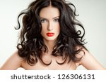 beautiful woman with perfect... | Shutterstock . vector #126306131