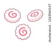 narutomaki  japanese surimi... | Shutterstock .eps vector #1263064147