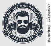 barber shop vintage label ...   Shutterstock .eps vector #1263068017