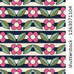 seamless retro pattern with... | Shutterstock .eps vector #1263071104
