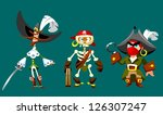 funny cartoon pirates | Shutterstock . vector #126307247