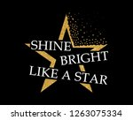 slogan graphic for t shirt or... | Shutterstock . vector #1263075334