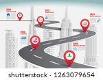 business road map timeline... | Shutterstock .eps vector #1263079654