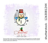 christmas card with creative... | Shutterstock .eps vector #1263081244