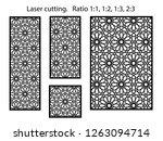 set of decorative vector panels ...   Shutterstock .eps vector #1263094714