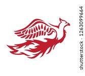 phoenix bird  logo icon | Shutterstock .eps vector #1263099664