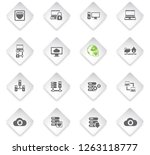 server flat rhombus web icons... | Shutterstock .eps vector #1263118777