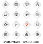 server flat rhombus web icons... | Shutterstock .eps vector #1263118801