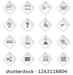 science flat rhombus web icons... | Shutterstock .eps vector #1263118804