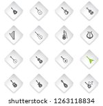 string instruments flat rhombus ... | Shutterstock .eps vector #1263118834