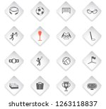 sport flat rhombus web icons... | Shutterstock .eps vector #1263118837