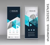 vertical banner stand template... | Shutterstock .eps vector #1263137641