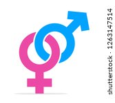 blue pink gender symbol... | Shutterstock .eps vector #1263147514