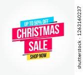 christmas sale label | Shutterstock .eps vector #1263160237