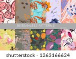 collection of seamless patterns.... | Shutterstock .eps vector #1263166624