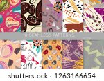 collection of seamless patterns.... | Shutterstock .eps vector #1263166654