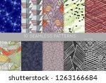collection of seamless patterns.... | Shutterstock .eps vector #1263166684