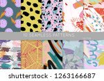 collection of seamless patterns.... | Shutterstock .eps vector #1263166687