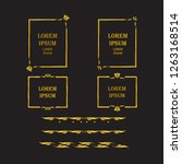 golden frames and three... | Shutterstock .eps vector #1263168514