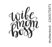 wife mom boss lettering. modern ... | Shutterstock .eps vector #1263170371