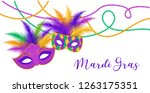 mardi gras   fat tuesday... | Shutterstock .eps vector #1263175351