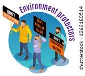 toxic waste danger isometric... | Shutterstock .eps vector #1263180514