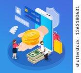 online lending isometric... | Shutterstock .eps vector #1263180631