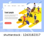 travel people landing page with ... | Shutterstock .eps vector #1263182317