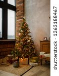 beautifully decorated christmas ... | Shutterstock . vector #1263188467