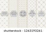 vector set of vertical labels.... | Shutterstock .eps vector #1263193261