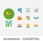 technology cooperation icons... | Shutterstock .eps vector #1263207331