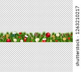christmas border isolated... | Shutterstock . vector #1263210217