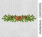 christmas wreath isolated... | Shutterstock .eps vector #1263210241